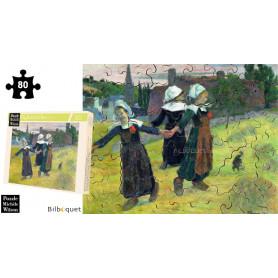 Danseuses Bretonnes - Gauguin - Puzzle d'art en bois 80 pièces