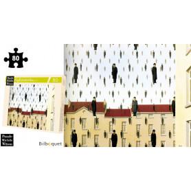 Golconde - Magritte - Puzzle d'art en bois 80 pièces