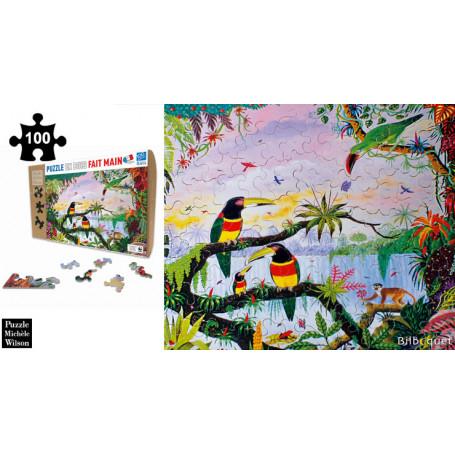 La Jungle - Thomas - Puzzle en bois 100 pièces