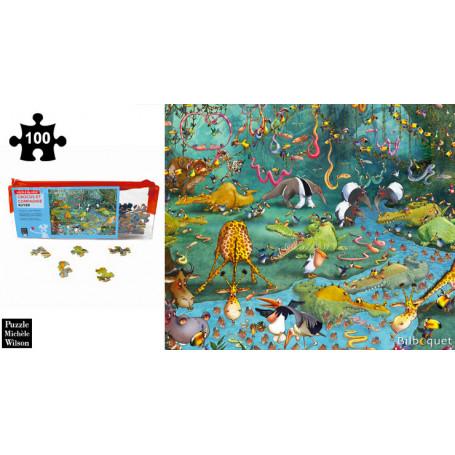 Crocos et compagnie - Ruyer - Puzzle en bois 100 pièces