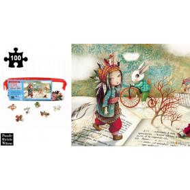 Voyage au pays des livres - Sophie Lebot - Puzzle en bois 100 pièces