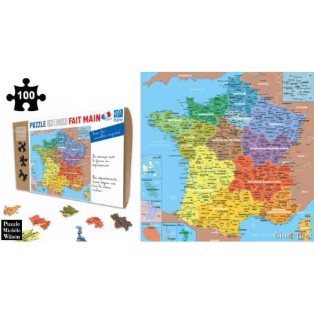 puzzle carte de france France Map of Departments   Wooden Puzzle
