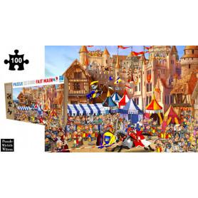 Le tournoi - François Ruyer - Puzzle en bois 100 pièces