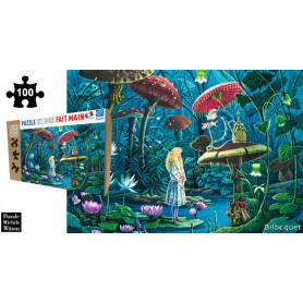 Alice au pays des merveilles - Florence Magnin - Puzzle en bois 100 pièces