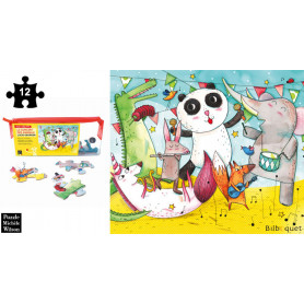 Le Concert des Animaux - Lucie Georger - Puzzle en bois 12 pièces