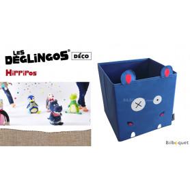 Boîte de rangement Hippipos l'hippopotame - Déglingos Déco