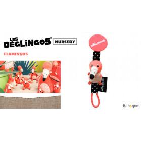 Porte-tétine Flamingos Le flamant rose - Déglingos Nursery