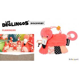Hochet d'activités Flamingos Le flamant rose - Déglingos Discovery