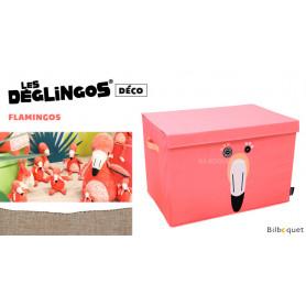 Coffre de rangement Flamingos Le flamant rose - Déglingos Déco