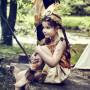 Indienne Leoti - Déguisement fille 3-4 ans