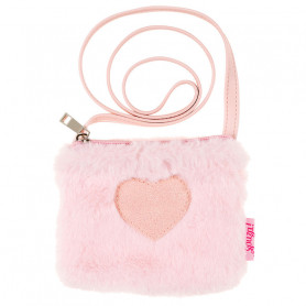 Handbag Sue - pink fur heart - Girl Accessory