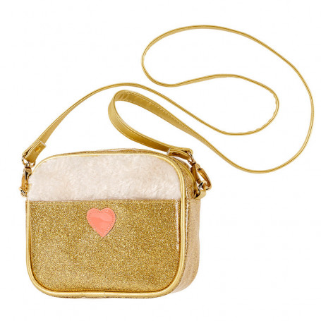 Handbag Nora - gold fur heart - Girl Accessory