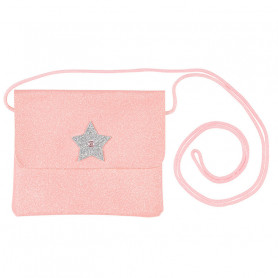 Handbag Bapke, Pink Glitter with star - Girl Accessory
