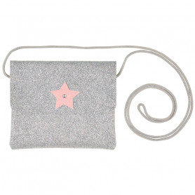 Handbag Bapke, Silver Glitter with star - Girl Accessory