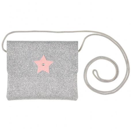 Handbag Bapke, Silver Glitter with star - Girl Accessory