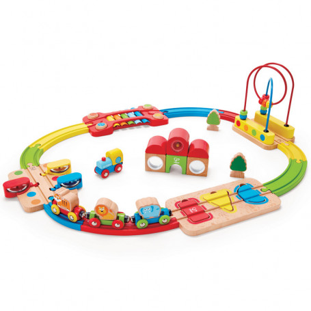 Rainbow Puzzle Railway - Early Age Wooden Train
