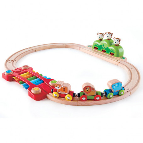 Music and Monkeys Railway - Early Age Wooden Train