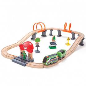 Solar Power Circuit - Wooden Train Set