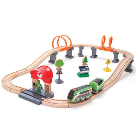 Solar Power Circuit - Wooden Train Set