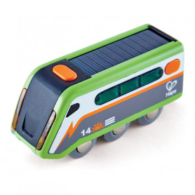 Solar-Powered Train - Accessory for wooden train circuits