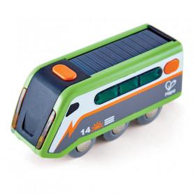 Train à énergie solaire - Accessoire pour circuits de train en bois