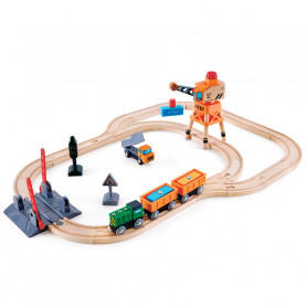 Crossing & Crane Set - Wooden Train Set
