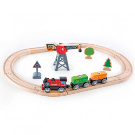 Cargo Delivery Loop - Wooden Train Set