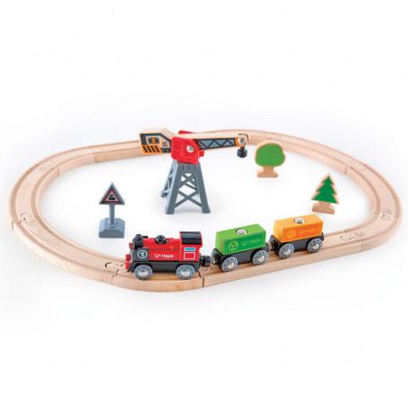Cargo Delivery Loop - Wooden Train Set