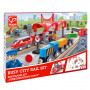 Busy City Rail Set - Wooden Train Set