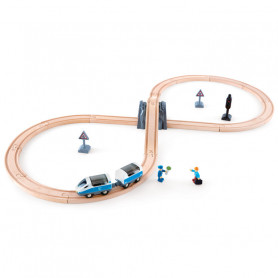 Figure of 8 Safety Set - Wooden Train Set