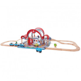 Grand City Station - Wooden Train Set