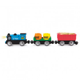 Battery Powered Rolling-Stock Set - Accessories for wooden train circuits