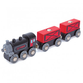 Steam-Era Freight Train - Accessories for wooden train circuits