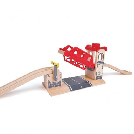 Pont levis - Accessoires pour circuits de train en bois