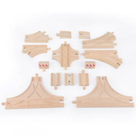 Advanced Track-Building Kit for Train Circuits