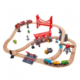 Busy City Rail Set - Wooden Train Set