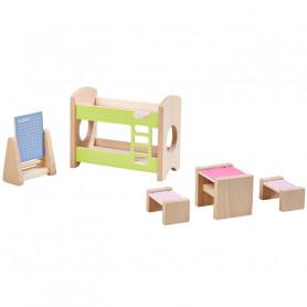 Chambre d'enfant pour deux enfants - Meubles pour maison de poupée Little Friends