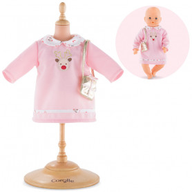 Happy Reindeer Dress for 42 cm baby doll Corolle