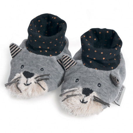 Chaussons en tissu Fernand le chat