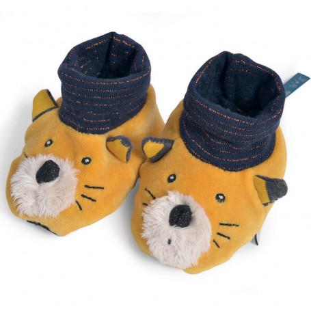 Chaussons en tissu Lulu le chat