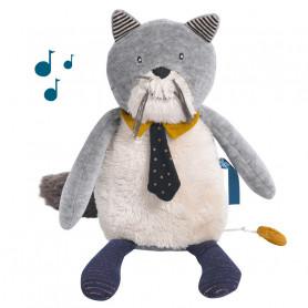 Doudou poupée chat musical Fernand