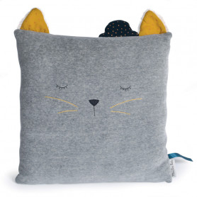 Sleeping cat cushion