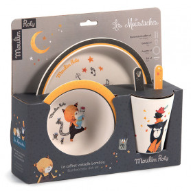 Baby dish set - Les Moustaches