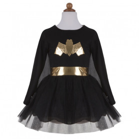 Bat Girl robe et cape - Déguisement fille