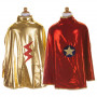 Reversible Wonder Cape red and gold - Costume for Gir