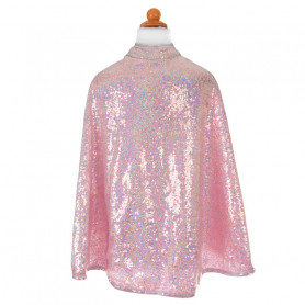 Silver Sequins Reversible Cape - Costume for Gir