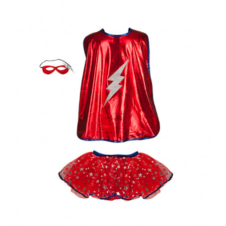 Superhero Tutu Cape and Mask Sert - Costume for Gir