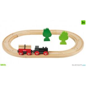 Petit circuit de train en forêt