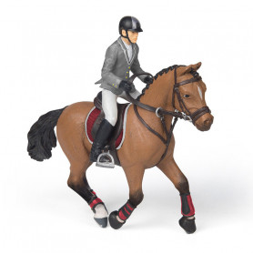Competition horse with rider - Papo Figurine