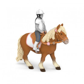 Shetland pony with saddle - Papo Figurine